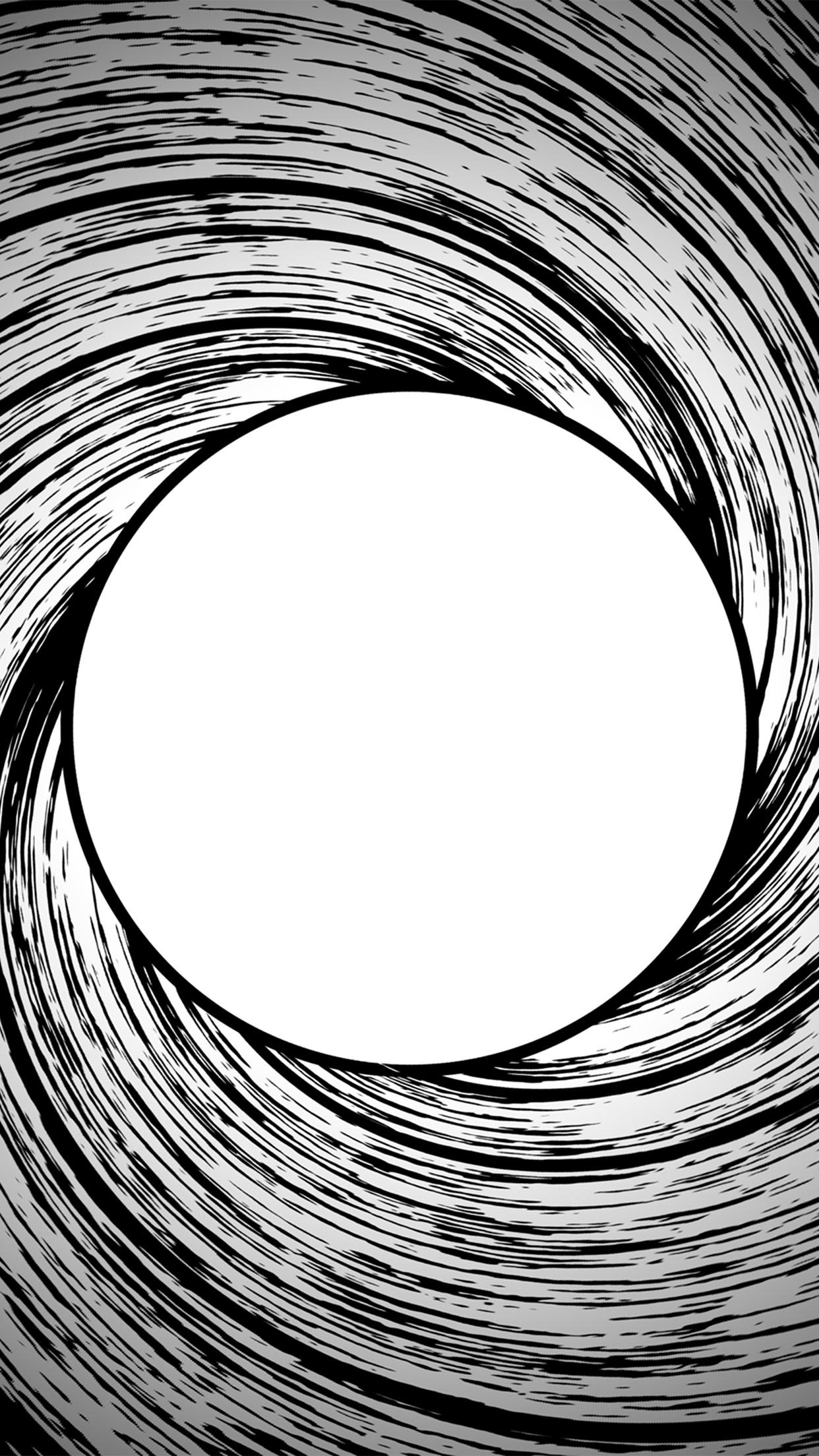 Vm95 james bond circle bw pattern wallpaper - James bond wallpaper iphone 5 ...