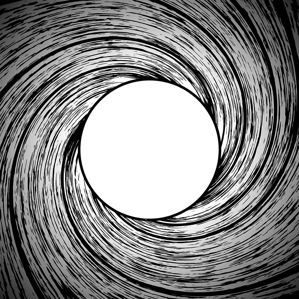 Circle Wallpaper: Vm95-james-bond-circle-bw-pattern-wallpaper
