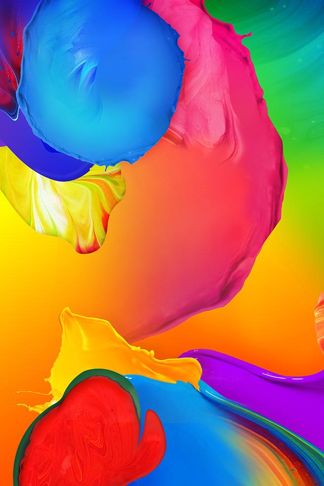 Vn04 Rainbow Color Paint Art Ink Default Pattern Wallpaper