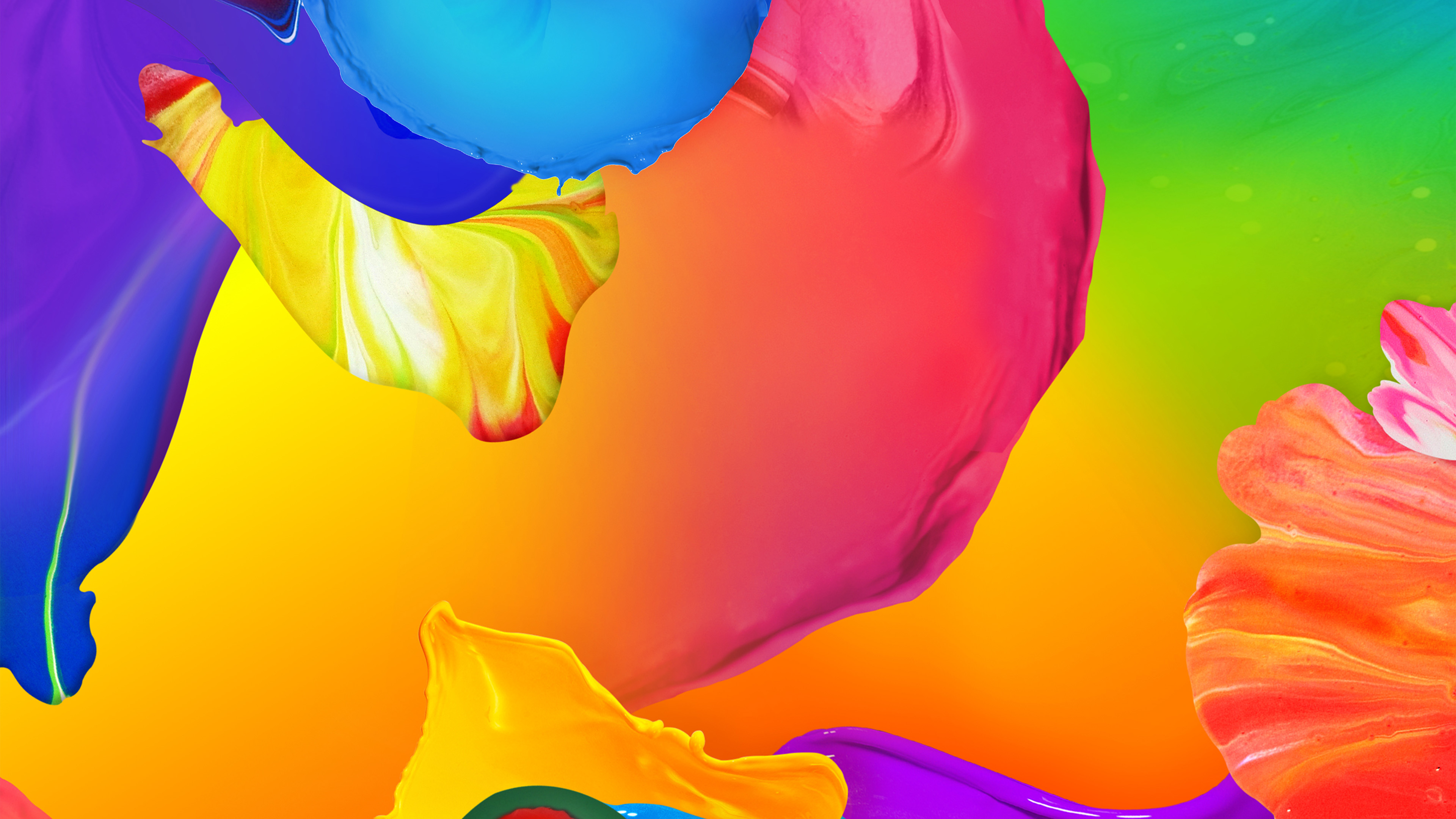 Abstract Water Painting Colors Samsung Galaxy S5 Hd: 3840 X 2400