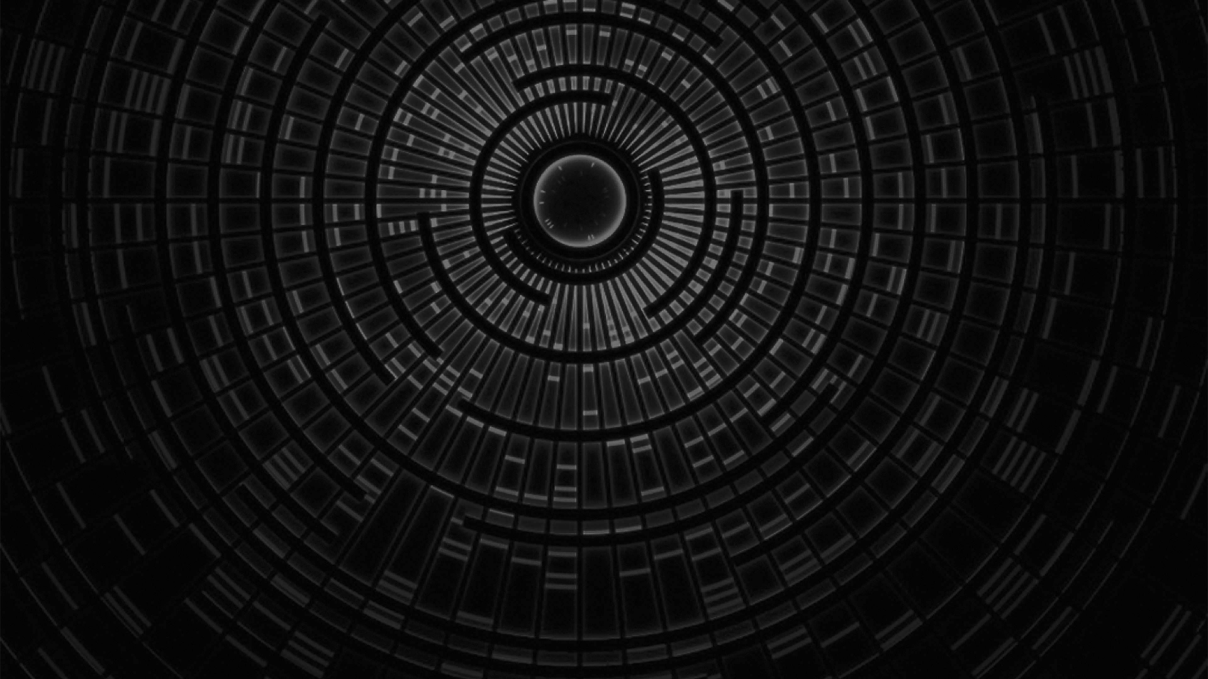 papers.co | desktop wallpaper | vn96-circle-hole-dark-bw-abstract