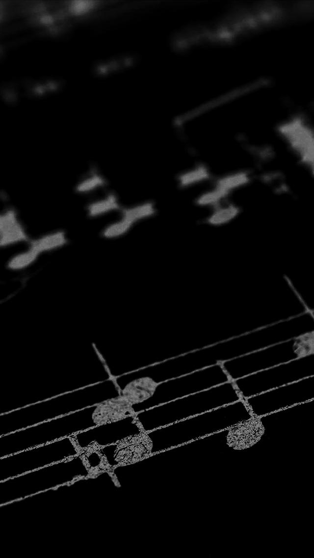 Vo38 Music Note Art Pattern Dark Wallpaper