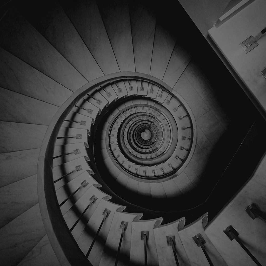 wallpaper-vo43-spiral-stair-life-pattern-bw-dark-wallpaper