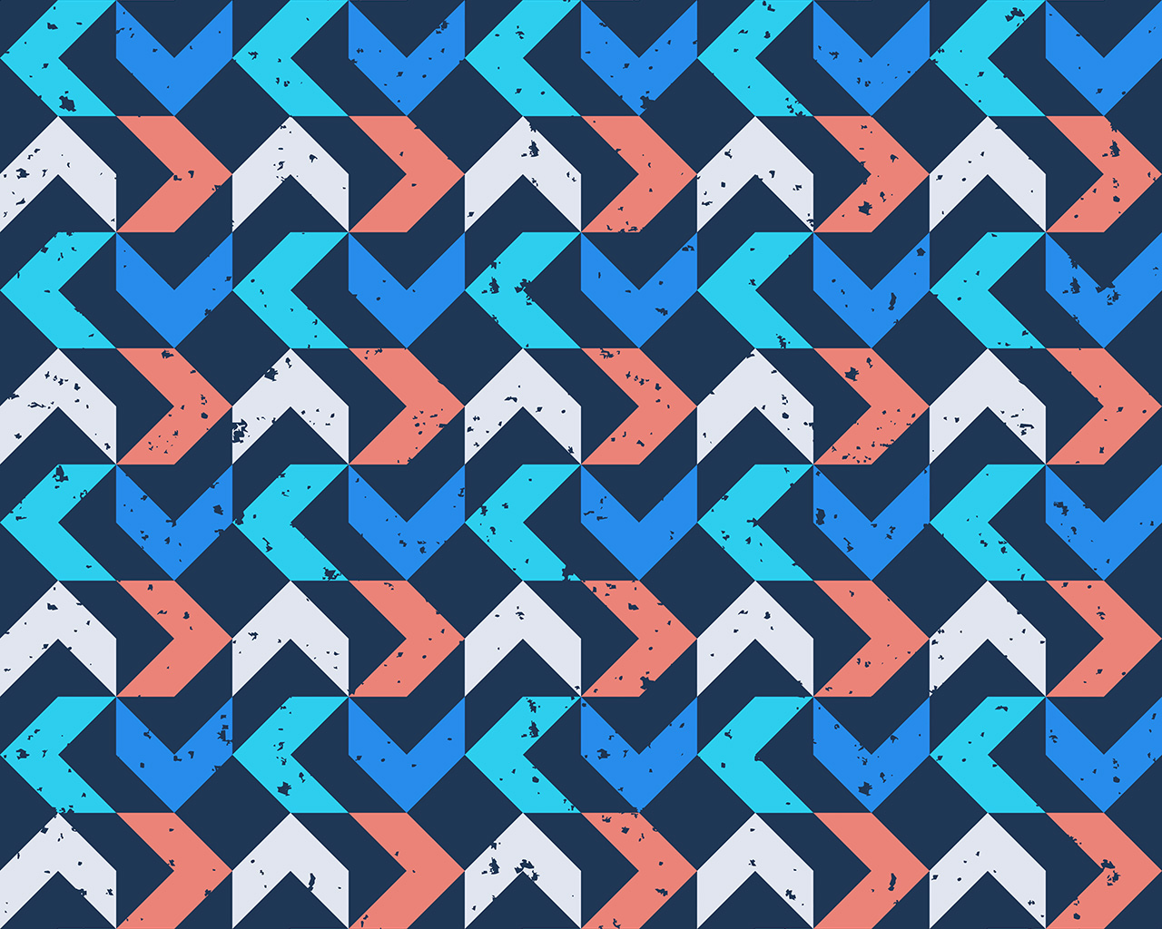 Vo74 Retro Red Blue Pattern Grunge Wallpaper