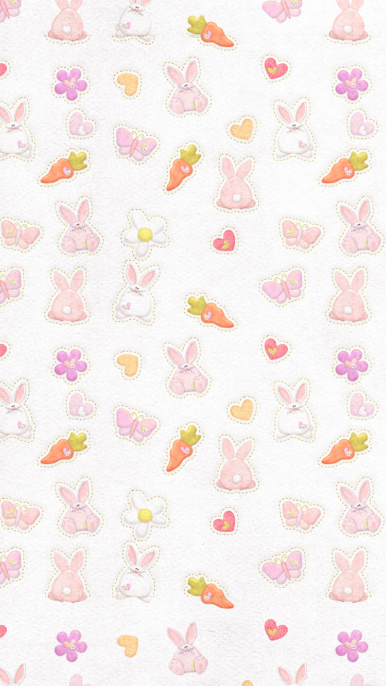 iPhonepapers.com-Apple-iPhone-wallpaper-vp06-cute-rabbit-chracter-pattern-red