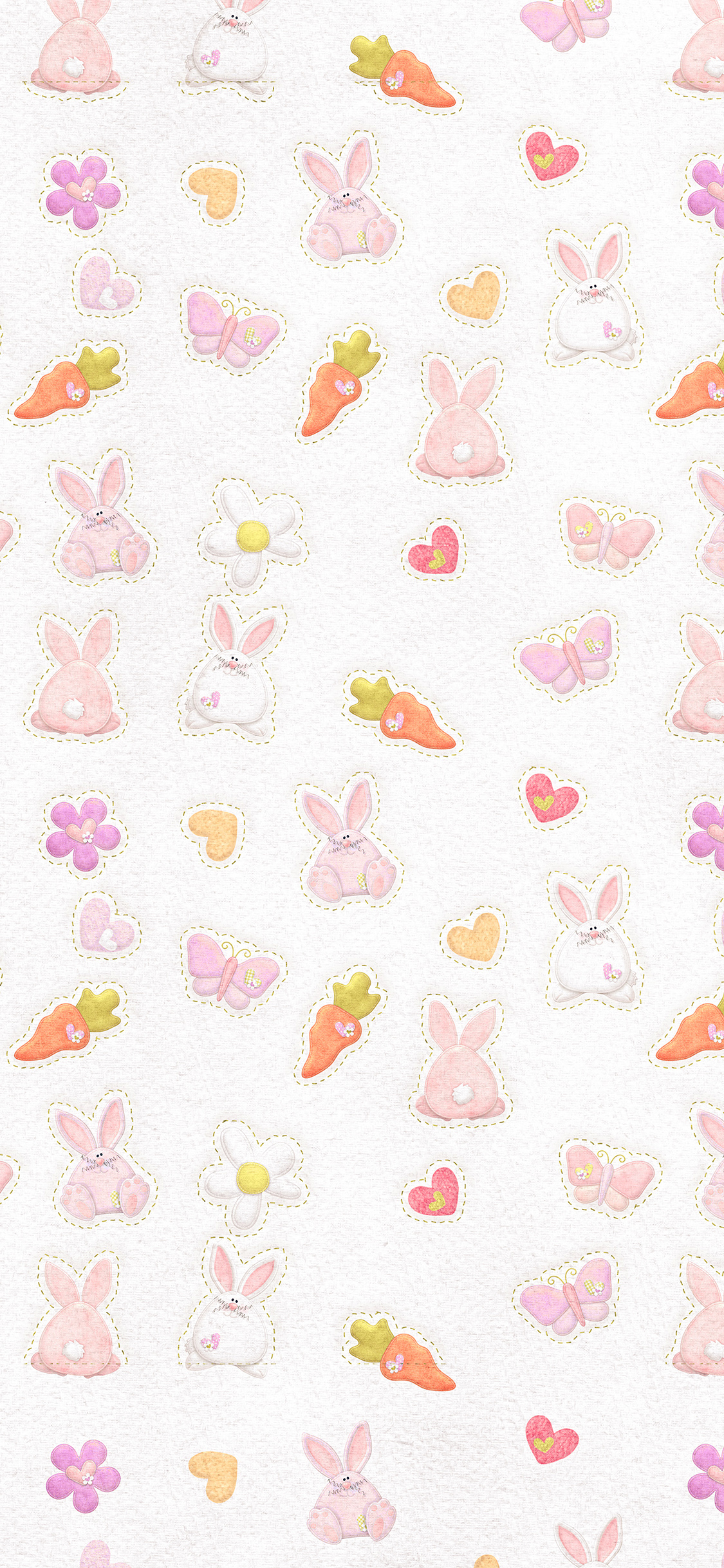iPhonexpapers.com-Apple-iPhone-wallpaper-vp06-cute-rabbit-chracter-pattern-red