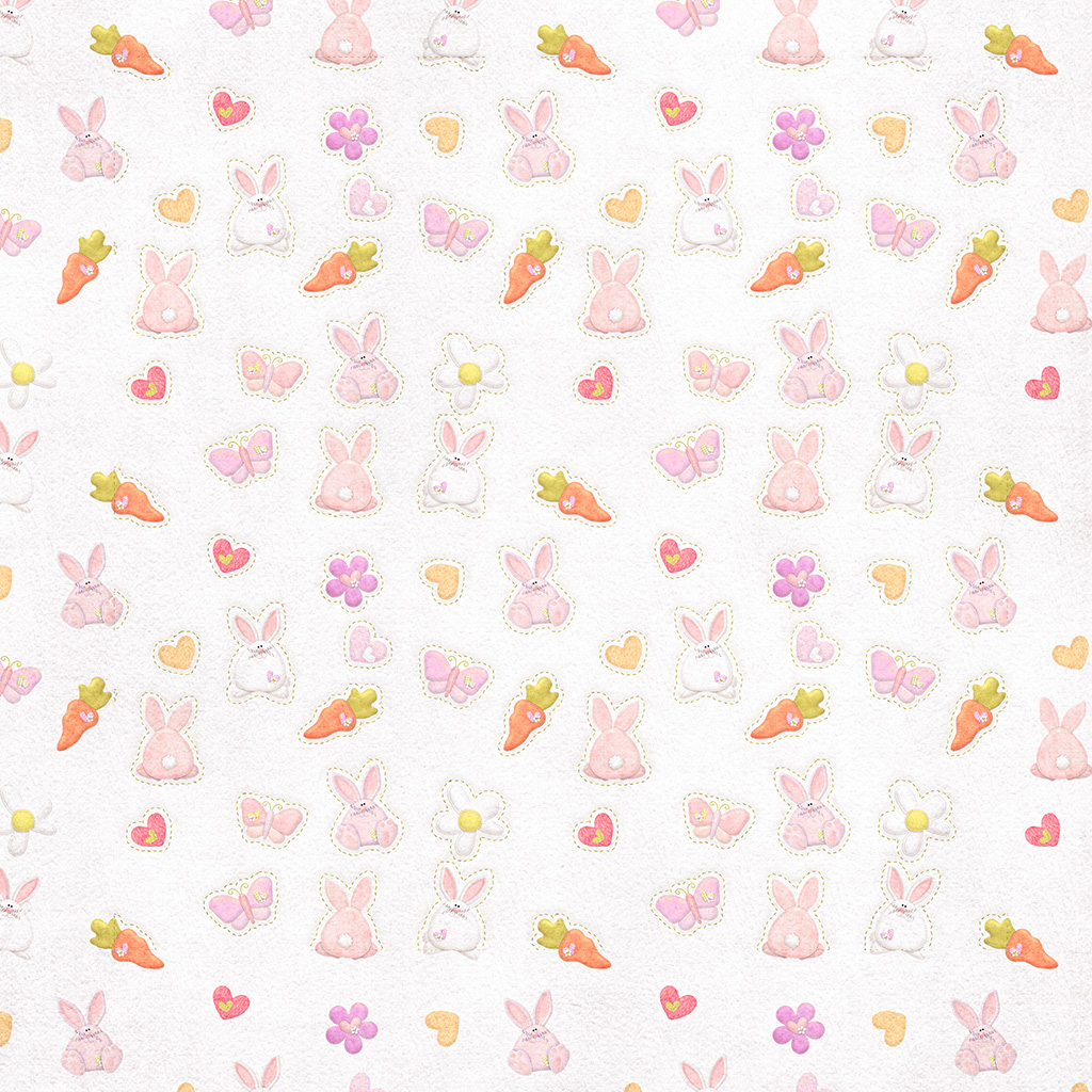 wallpaper-vp06-cute-rabbit-chracter-pattern-red-wallpaper