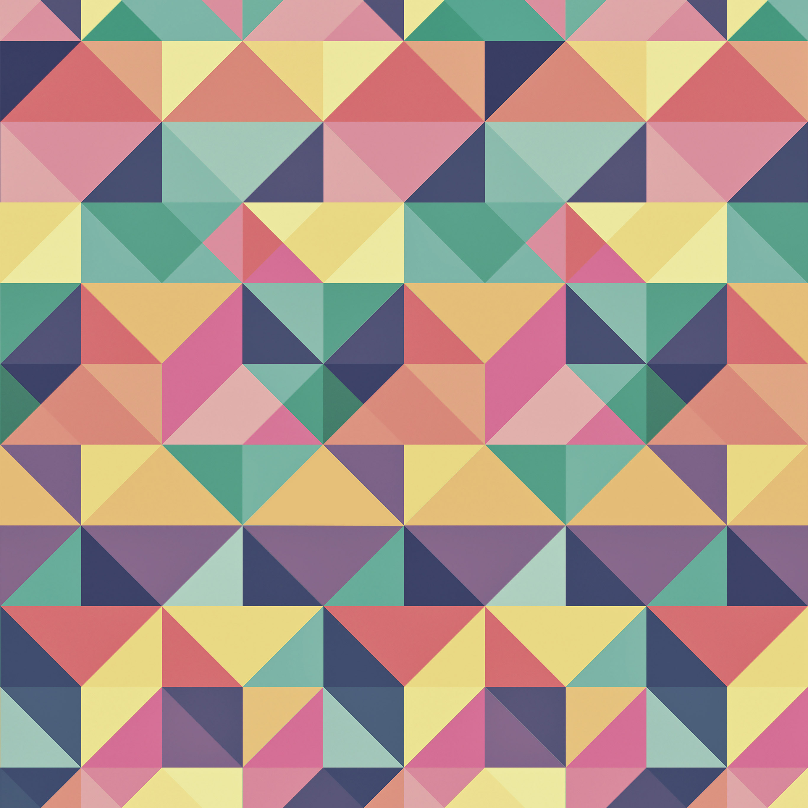 Vp25 Abstract Polygon Art Pattern Rainbow Wallpaper