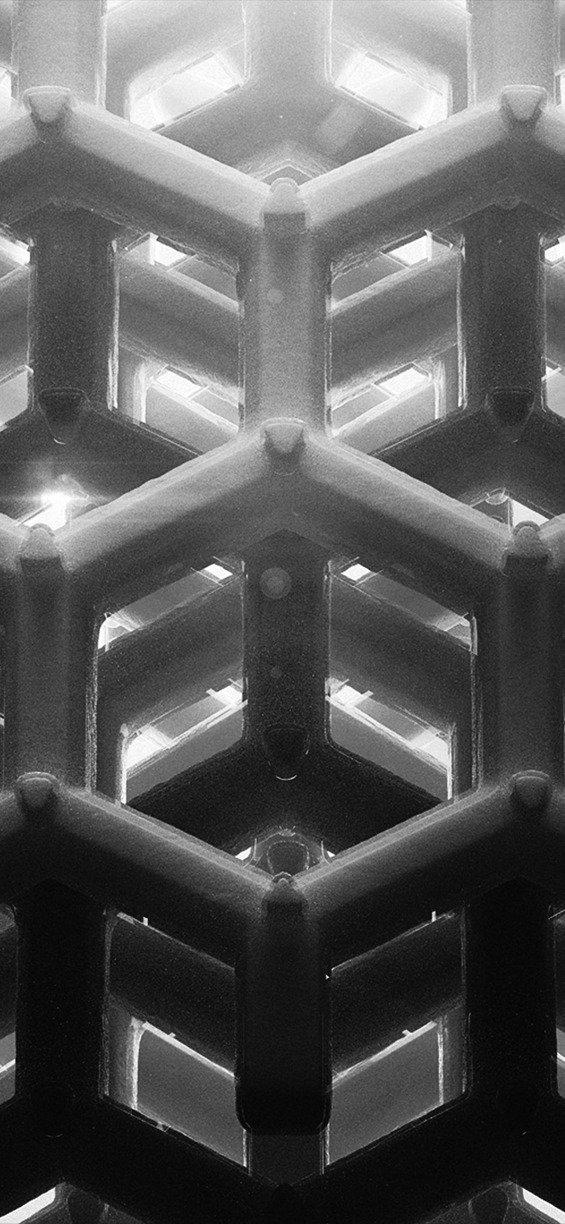 iPhonexpapers.com-Apple-iPhone-wallpaper-vp91honey-cube-pattern-comb-dark-bw