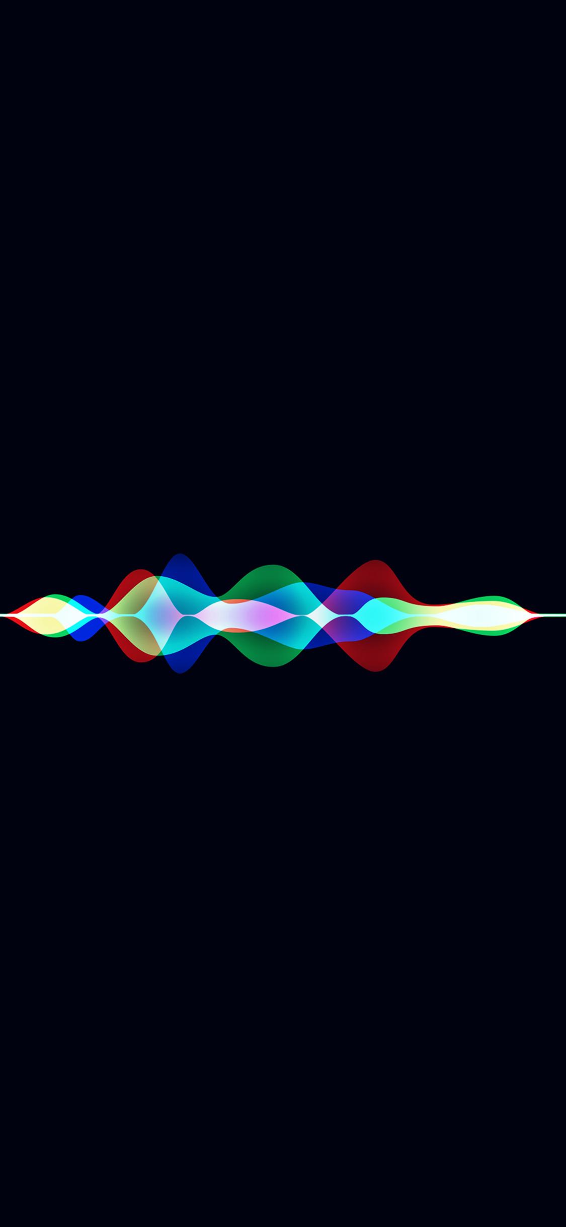 Vq05 Siri Dark Rainbow Black Art Apple Pattern Wallpaper