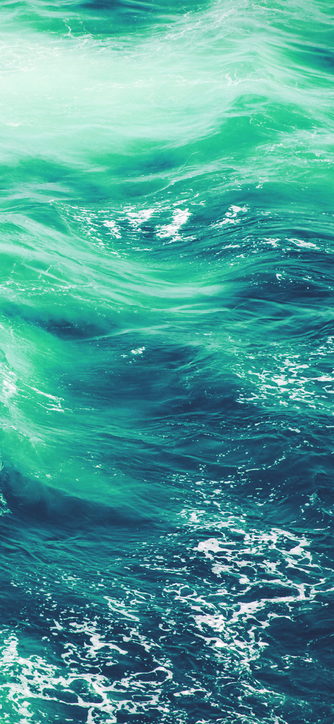 Vq24 Wave Nature Water Blue Green Sea Ocean Pattern Wallpaper