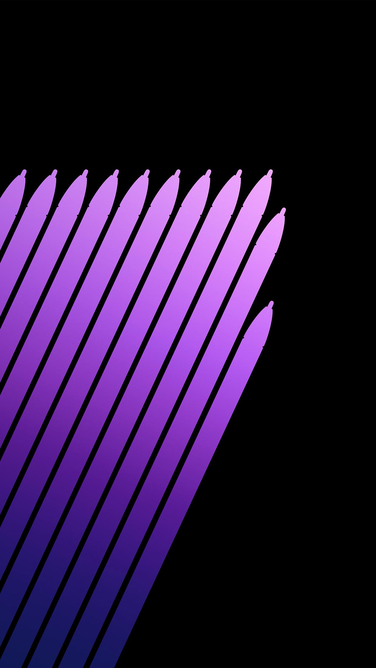 Vq90 Note 7 Galaxy Art Pen Dark Purple Pattern