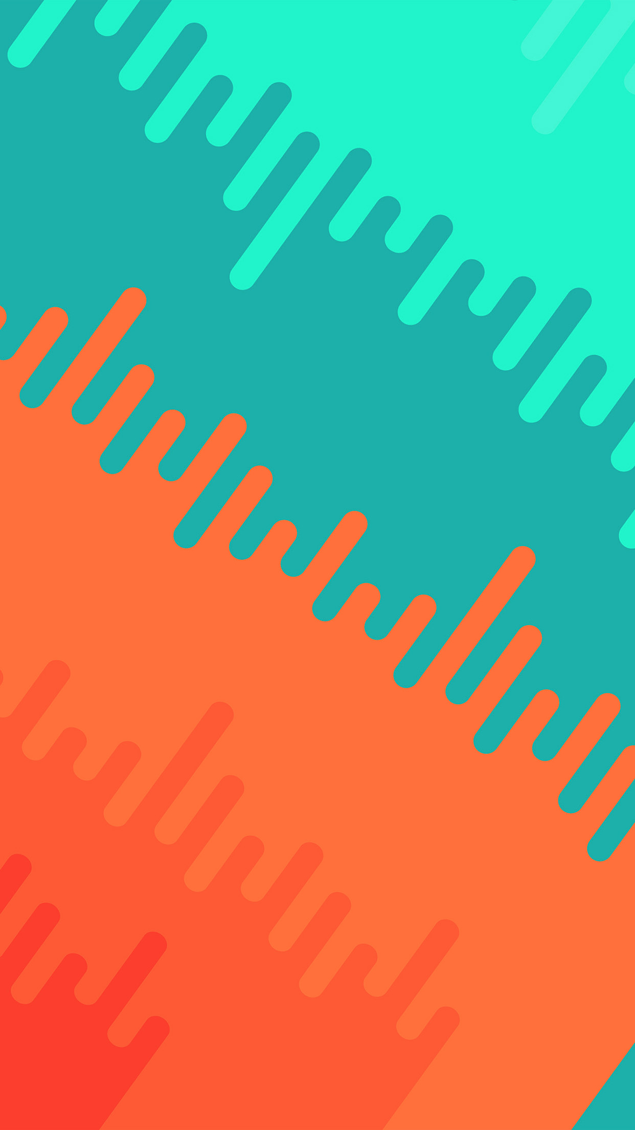 Vr04 Abstract Orange Green Art Pattern Wallpaper