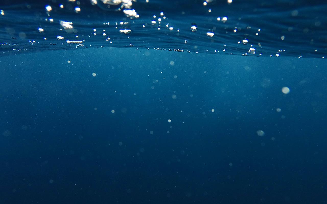 Vr20 Bubble Underwater Swim Blue Dark Pattern Wallpaper