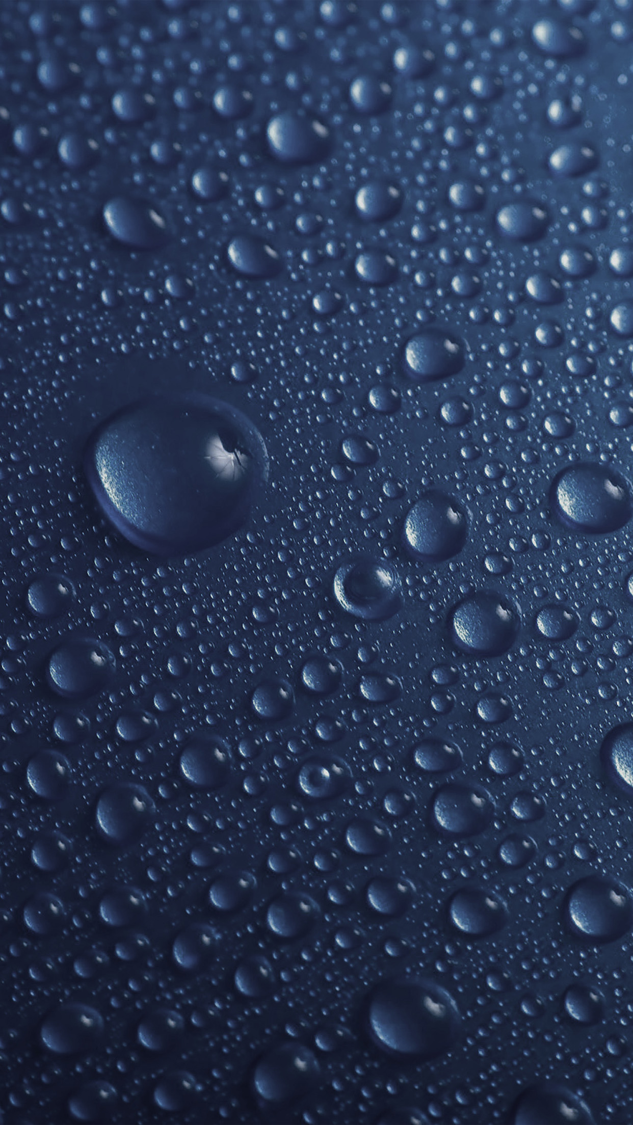 Papers Co Iphone Wallpaper Vr31 Rain Drop Blue Water Sad