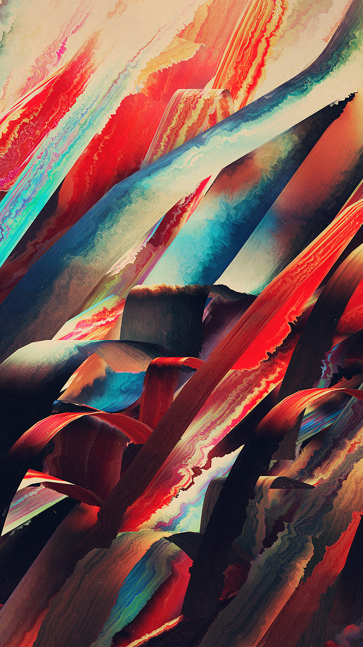 Papers.co-iPhone5-iphone6-plus-wallpaper-vr51-watercolored-lines-hampus-olsson-art-red-pattern