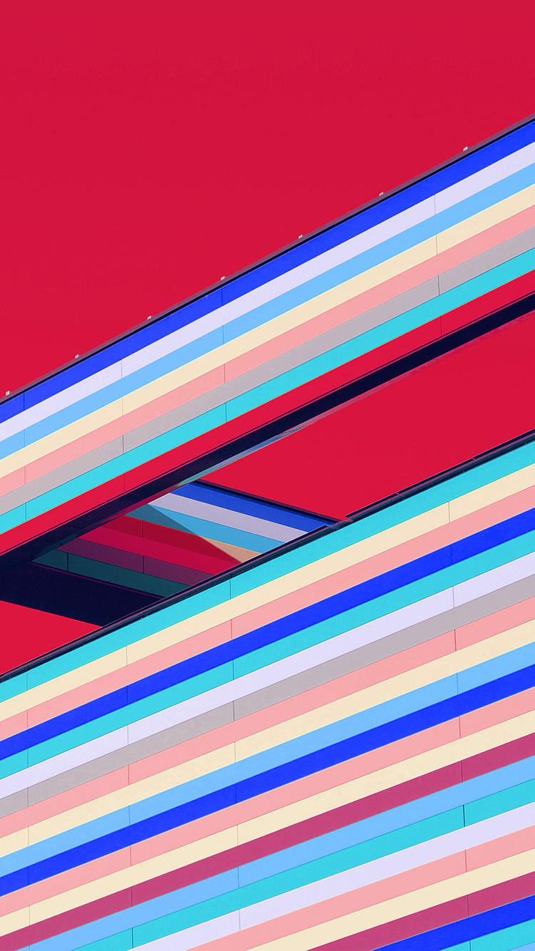 iPhonepapers.com-Apple-iPhone-wallpaper-vr61-line-color-straight-simple-red-pattern