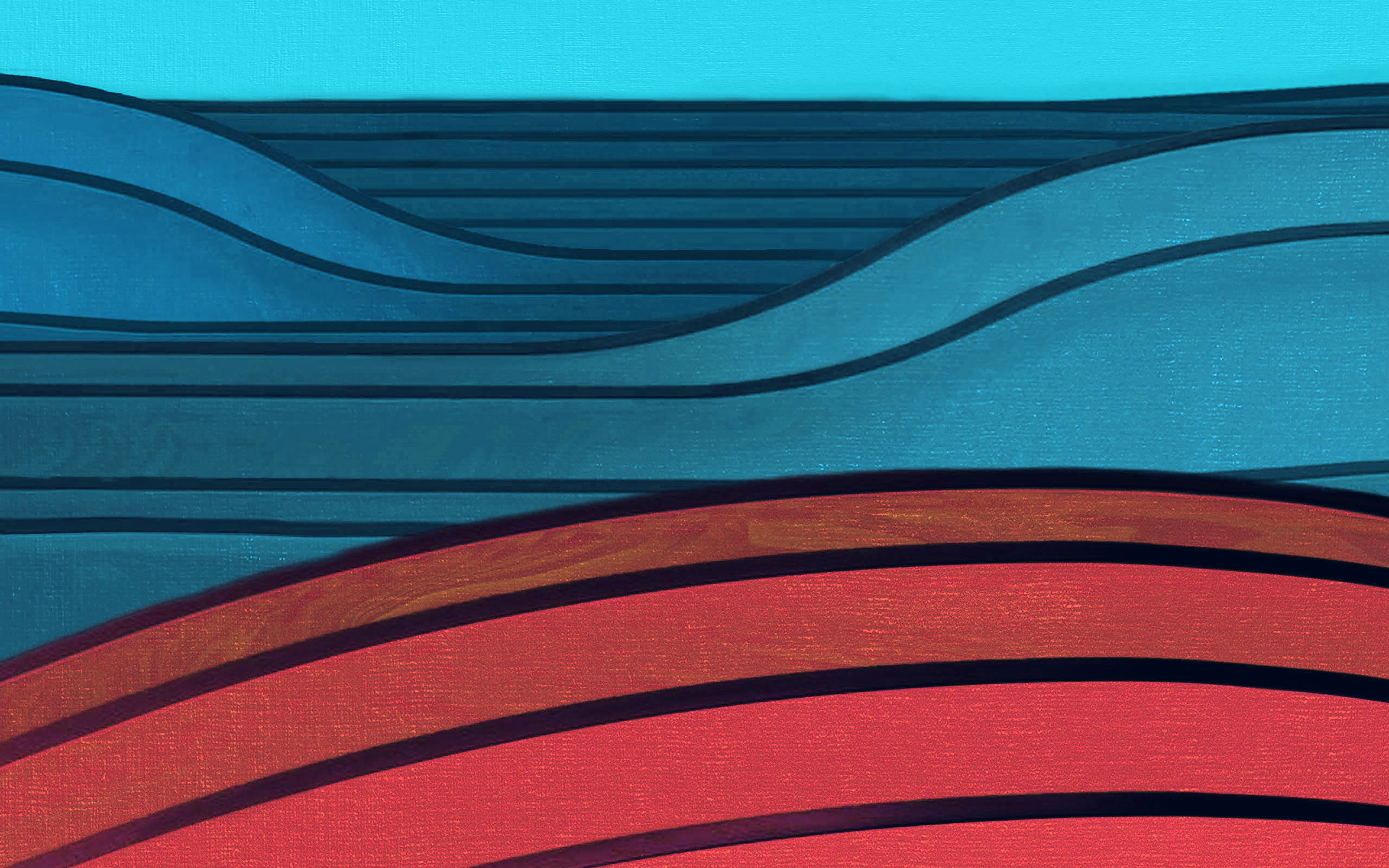 Vr64 Htc Stock Blue Red Simple Abstract Pattern Dark Wallpaper