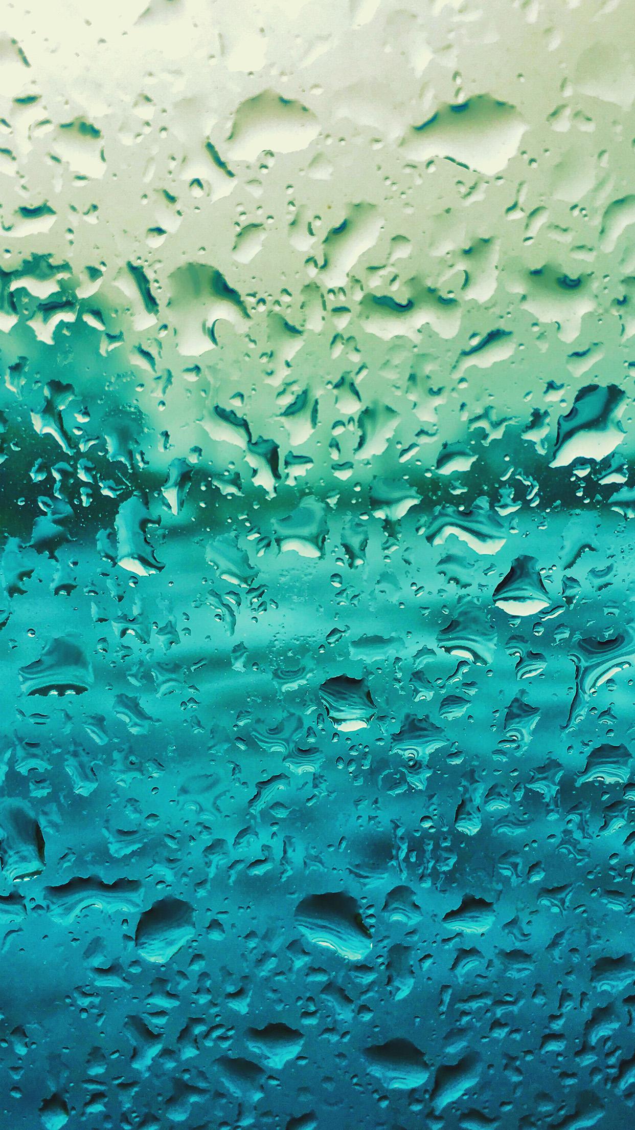 Vr68 Rain Drop Window Blue Pattern Wallpaper
