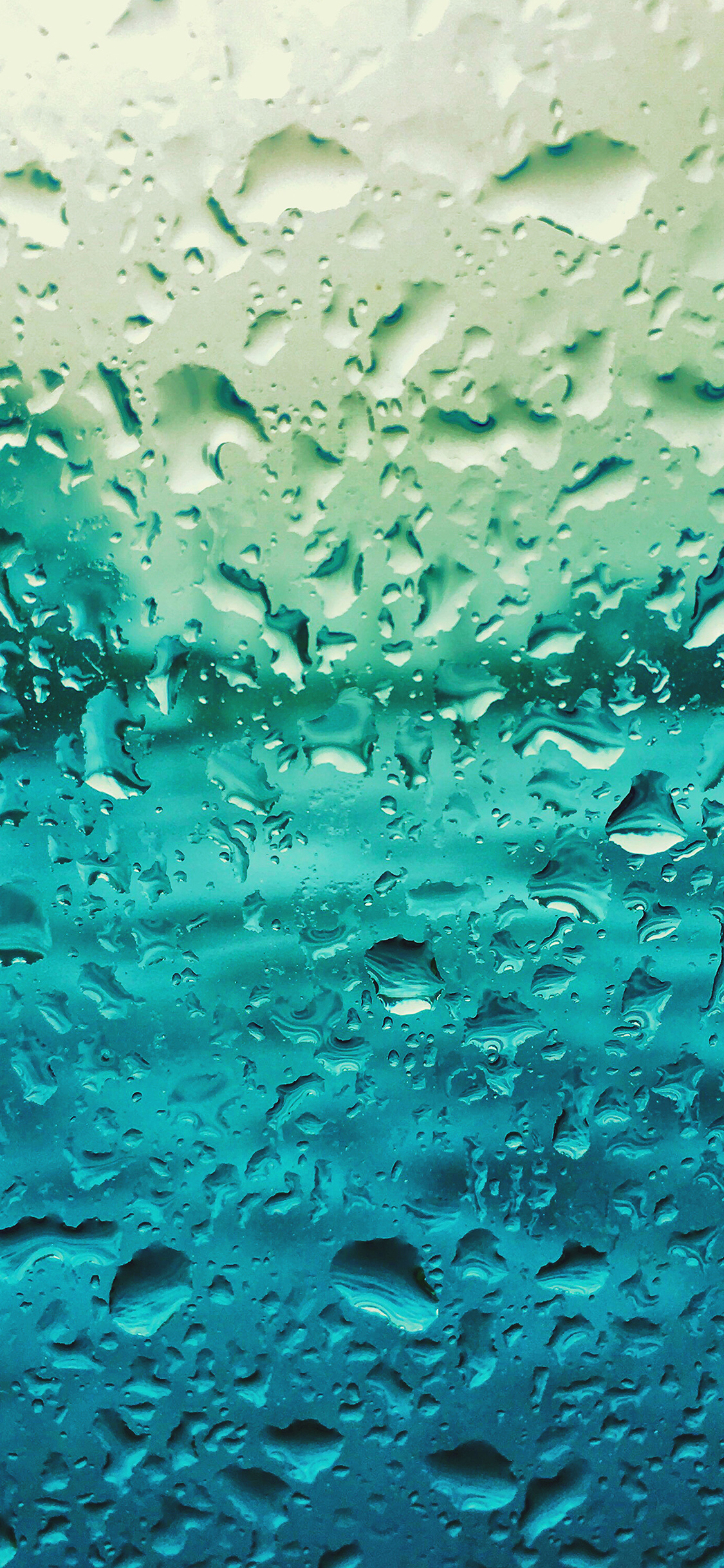 Vr68 Rain Drop Window Blue Pattern Wallpaper