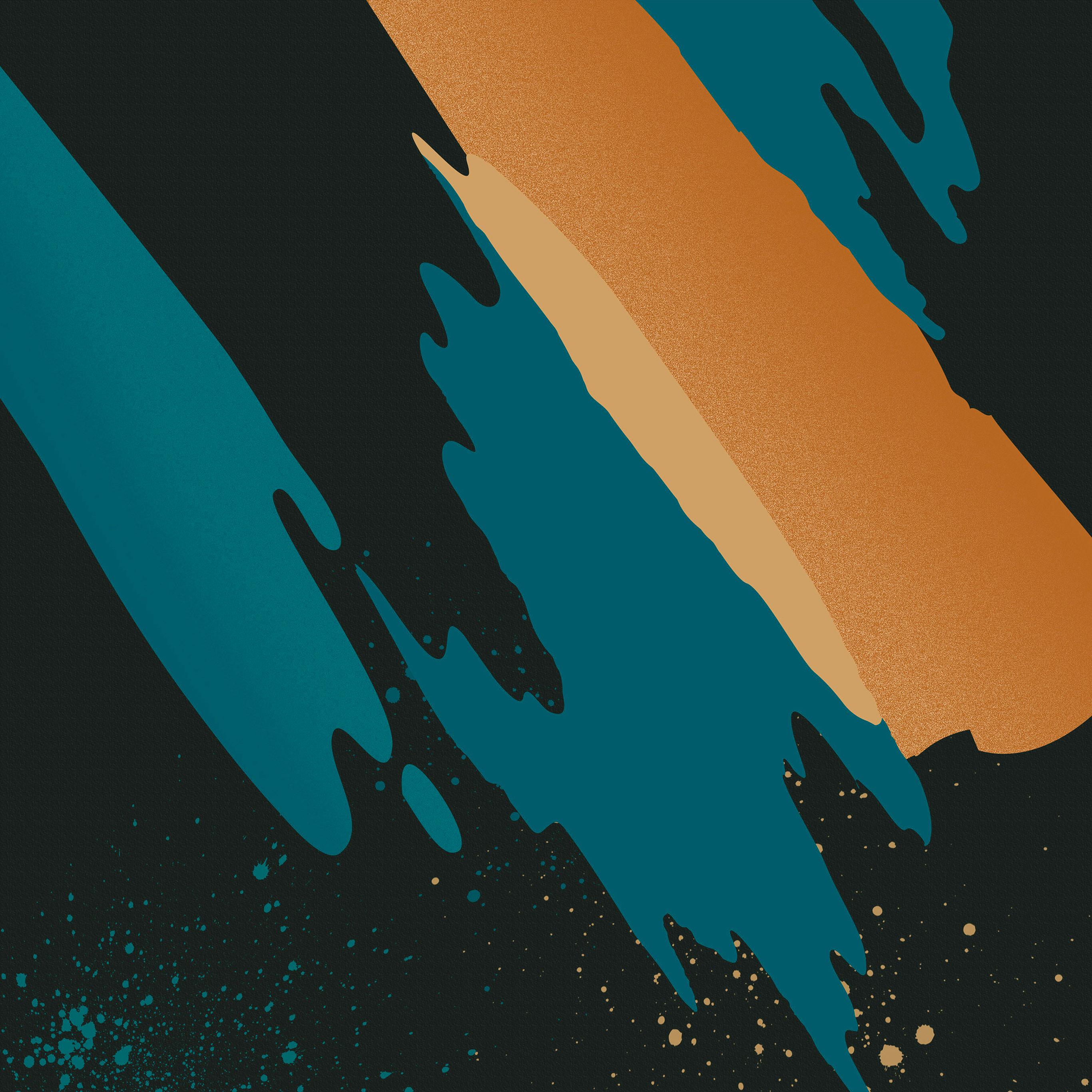 Vs22 Paint Abstract Background Htc Dark Orange Blue Pattern