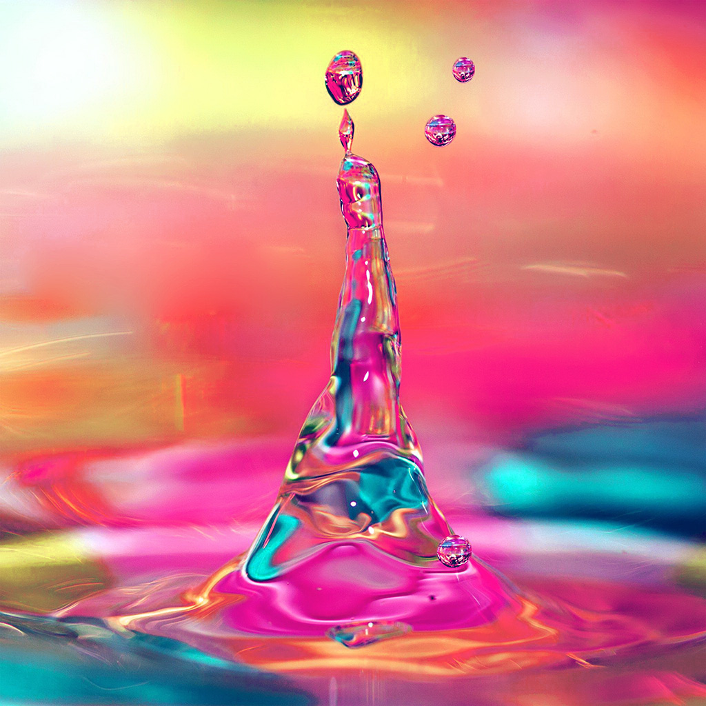 wallpaper-vs36-waterdrop-color-rainbow-pattern-red-wallpaper