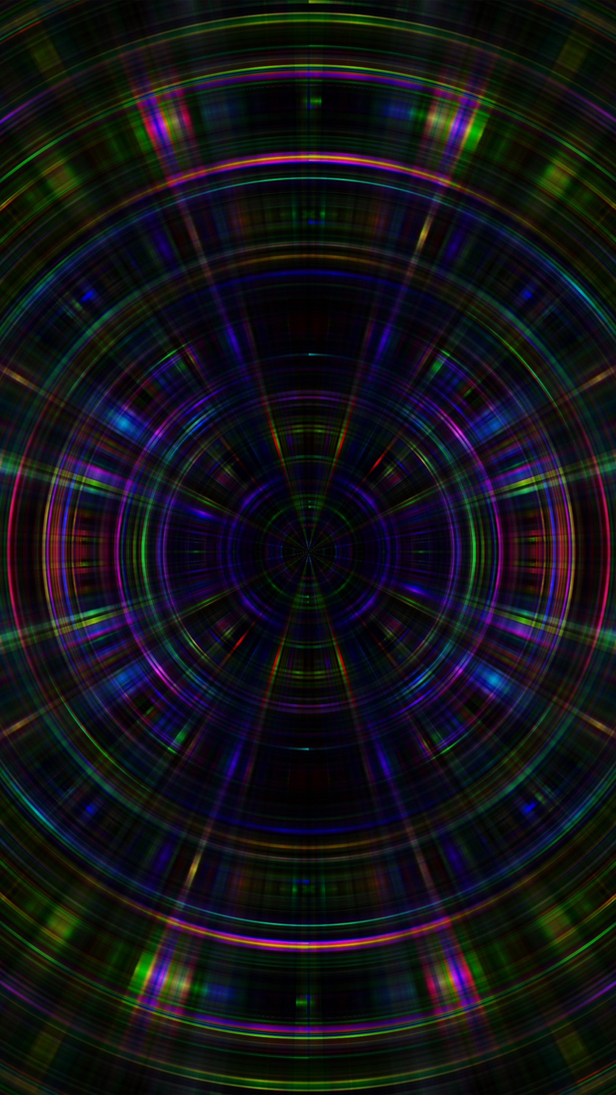 Vt10 Psychic Color Circle Abstract Dark Rainbow Pattern Wallpaper