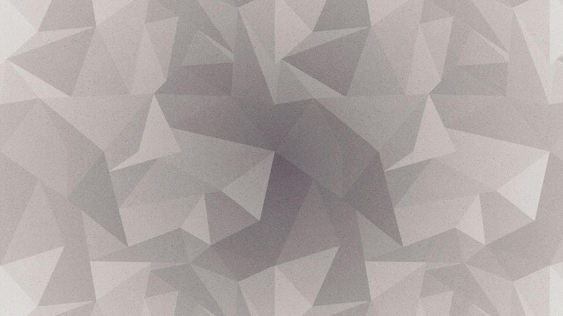 Papersco Desktop Wallpaper Vt29 Abstract Polygon White Bw Pattern