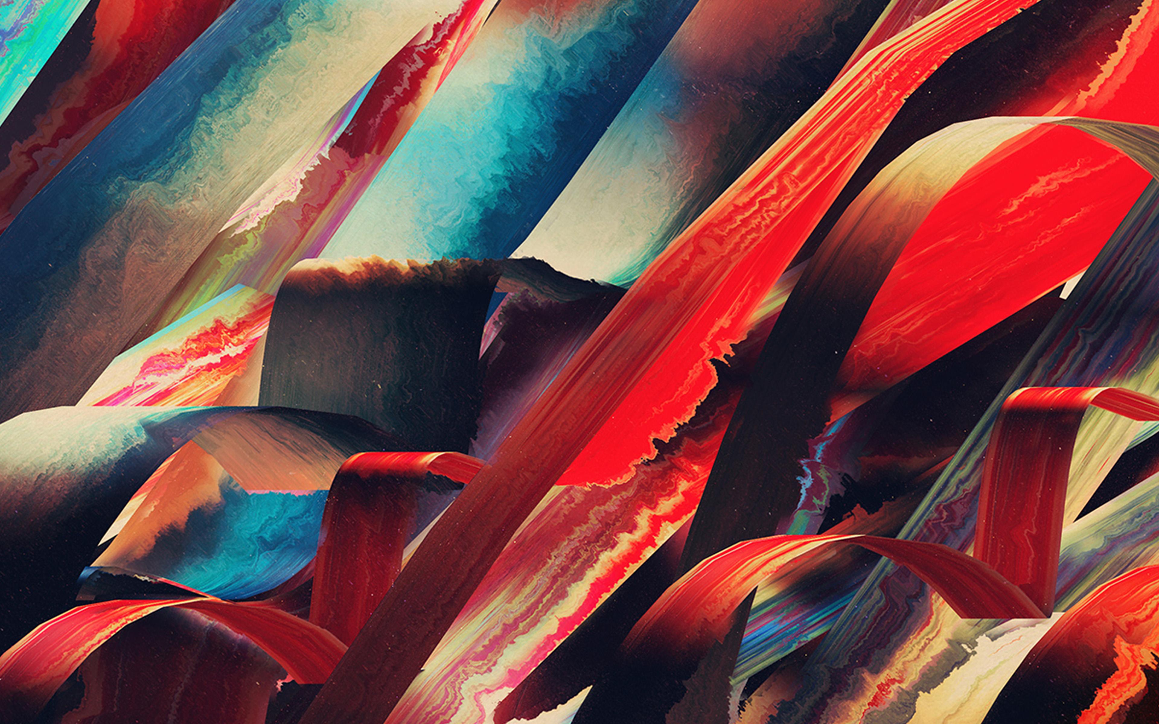 Vt44 Art Paint Hampus Olsson Pattern Red Dark Abstract Wallpaper