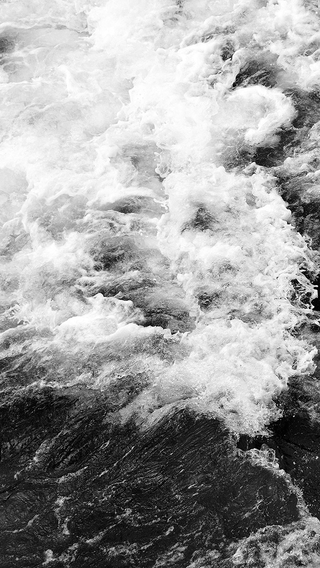 freeios8.com-iphone-4-5-6-plus-ipad-ios8-vt73-water-sea-texture-wave-nature-pattern-bw-dark