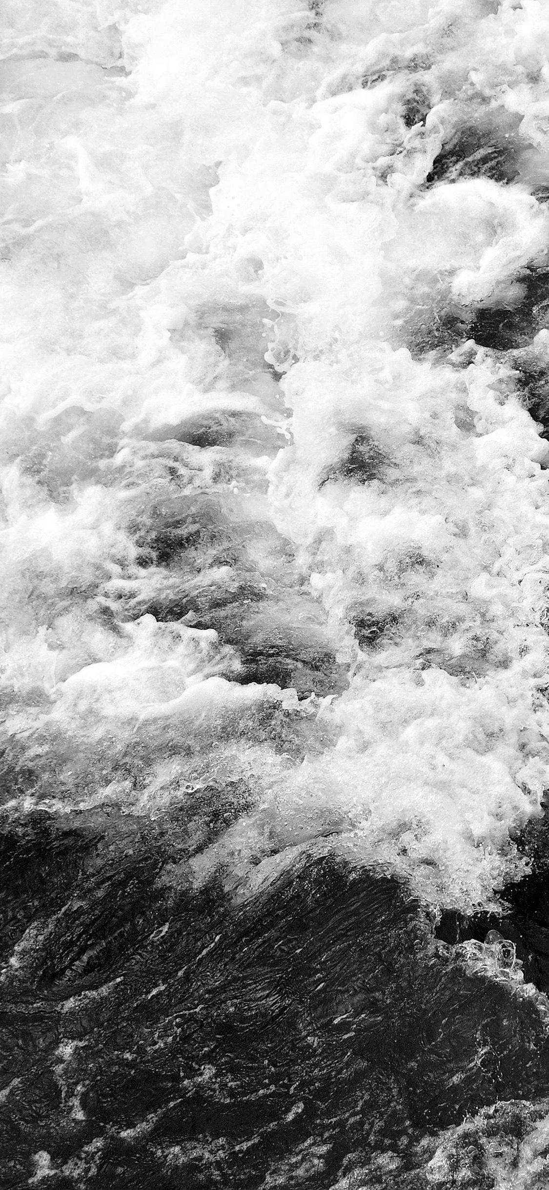 iPhonexpapers.com-Apple-iPhone-wallpaper-vt73-water-sea-texture-wave-nature-pattern-bw-dark