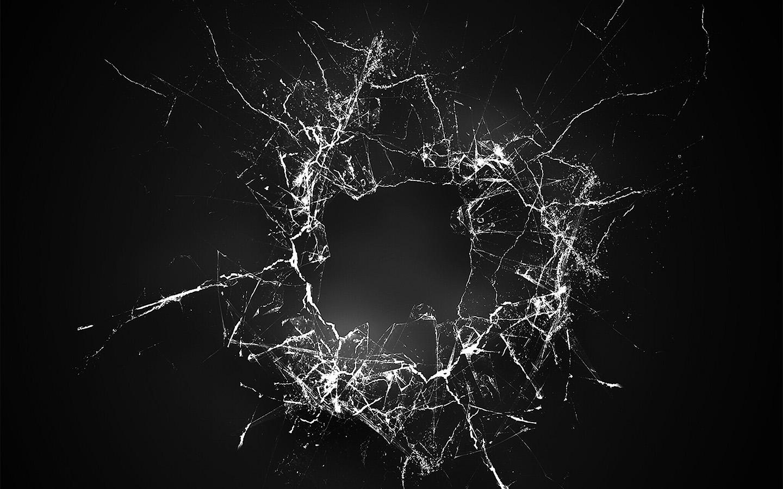 Wallpaper For Desktop Laptop Vu19 Crack Glass Dark Bw