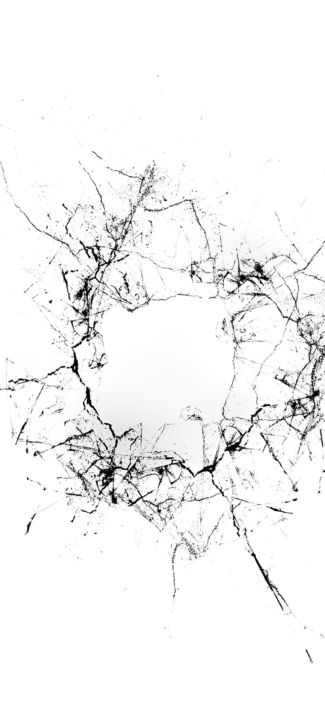 iPhonexpapers.com-Apple-iPhone-wallpaper-vu20-crack-glass-white-bw-texture-pattern