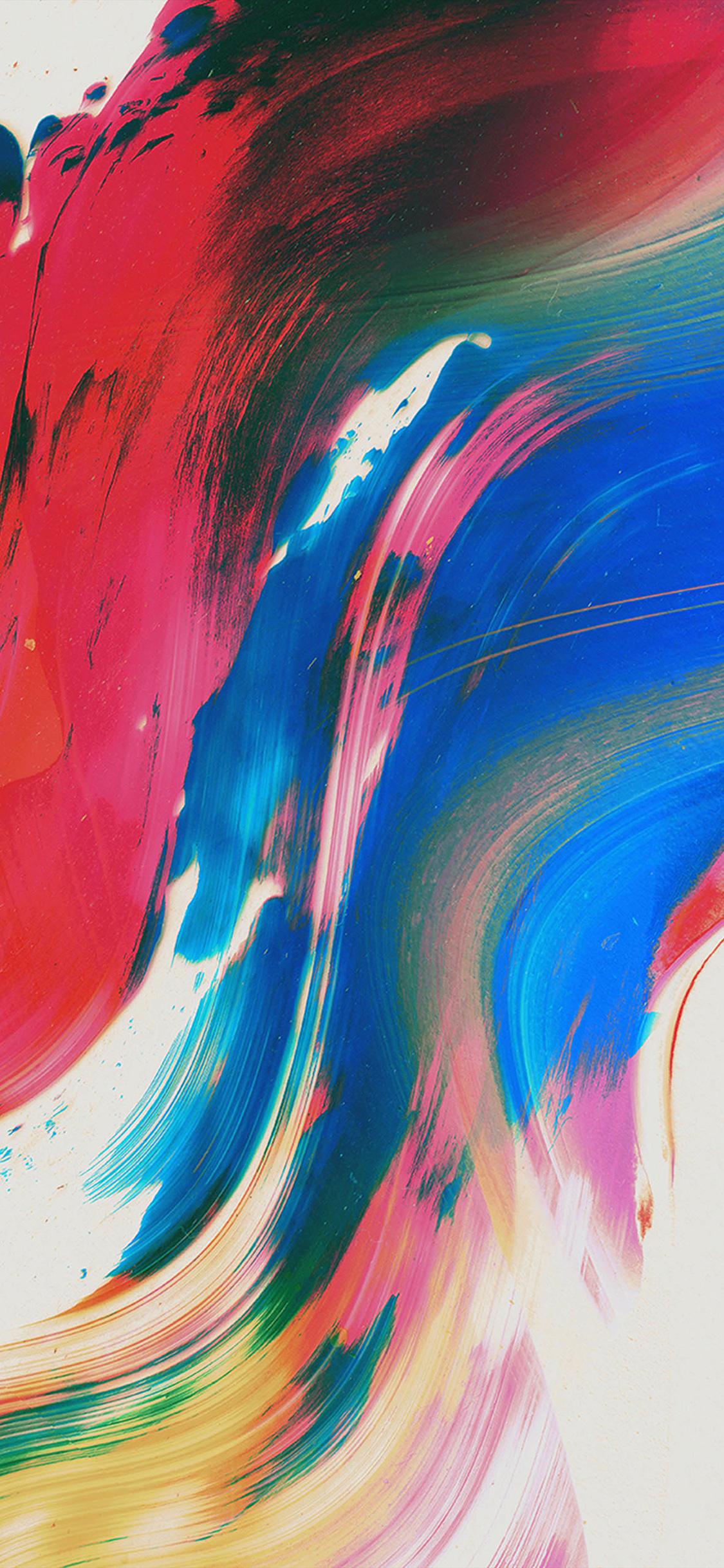 Iphone11papers Com Iphone11 Wallpaper Vu35 Paint Texture Art Pattern Color Blue