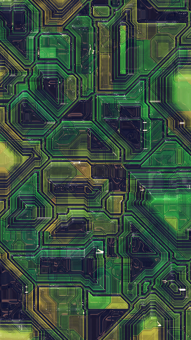 freeios8.com-iphone-4-5-6-plus-ipad-ios8-vv61-electric-mother-board-pattern-background-green