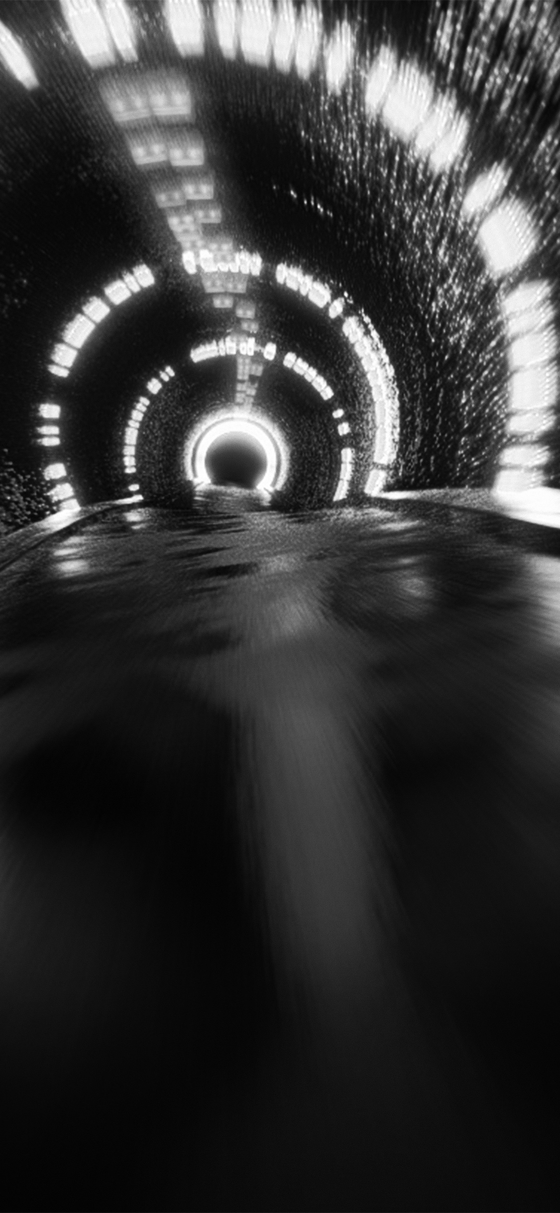iPhonexpapers.com-Apple-iPhone-wallpaper-vv71-tunnel-car-dark-drive-pattern-background-bw