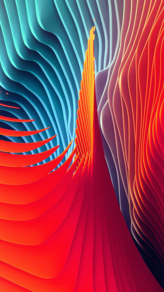 freeios8.com-iphone-4-5-6-plus-ipad-ios8-vw19-rainbow-art--abstract-red-pattern-background