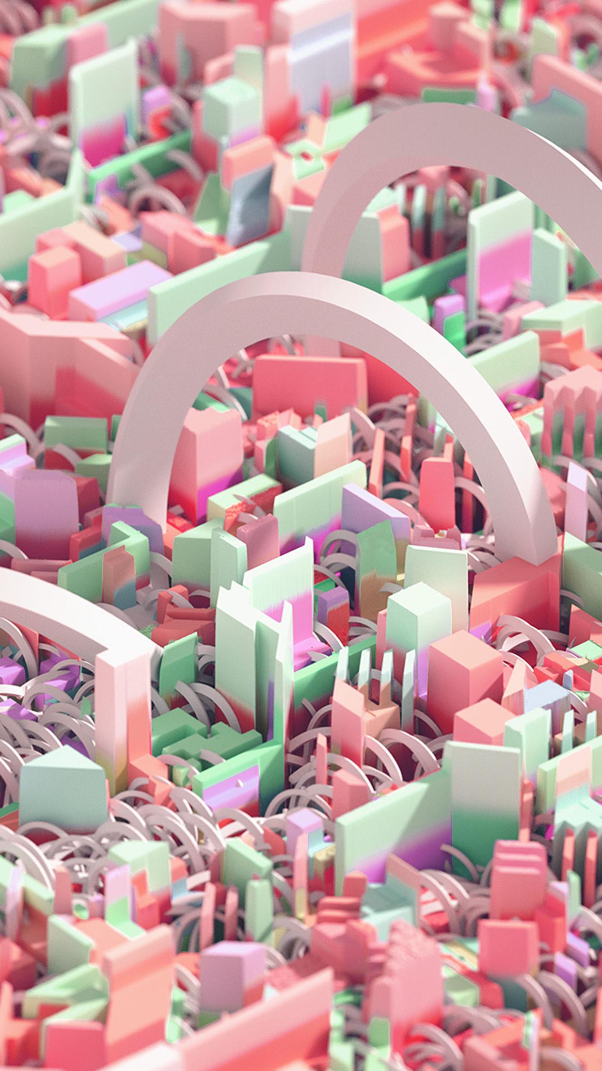 Vw86 Cute Art Abstract 3d Pattern Background Pink Wallpaper