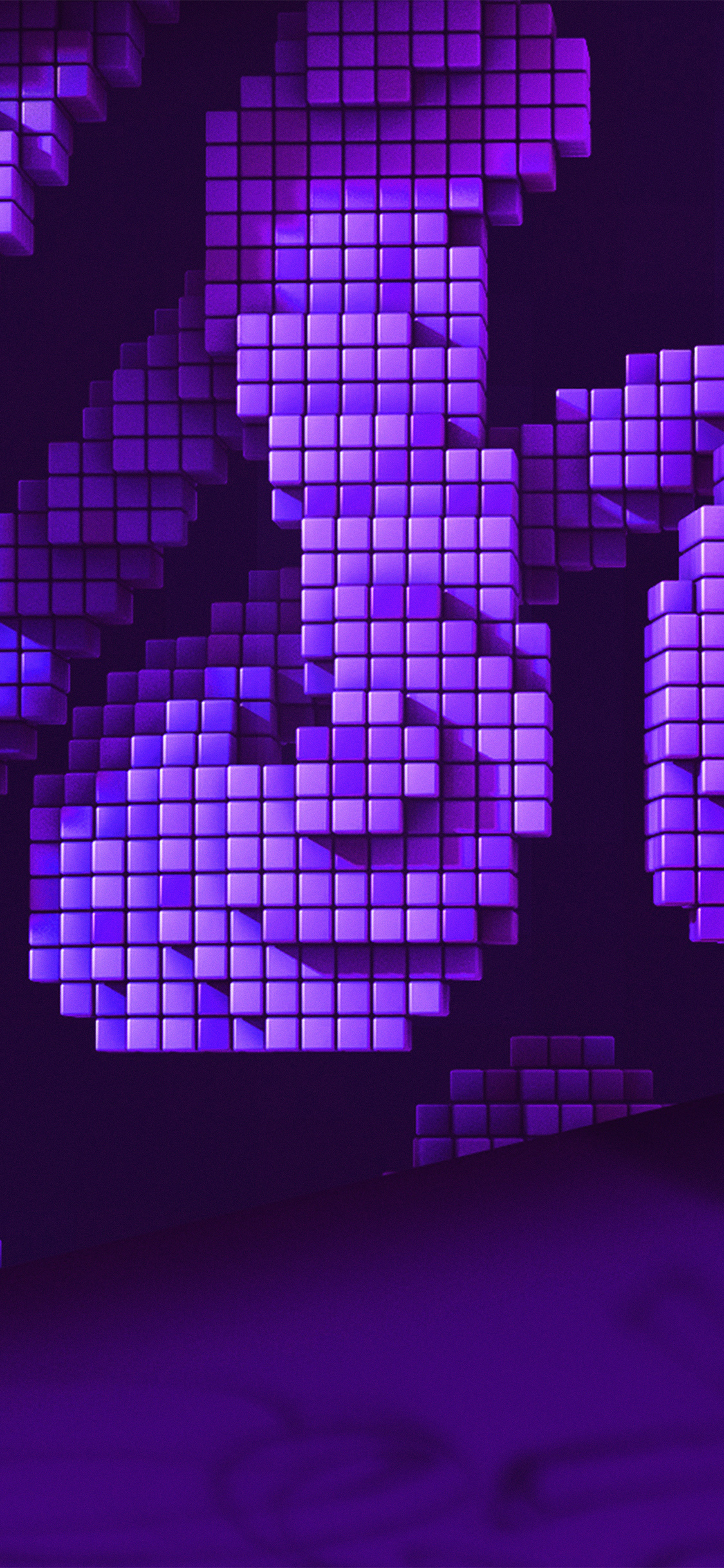 Iphonexpapers Com Iphone X Wallpaper Vw92 Digital Pixel Art Purple Pattern Background