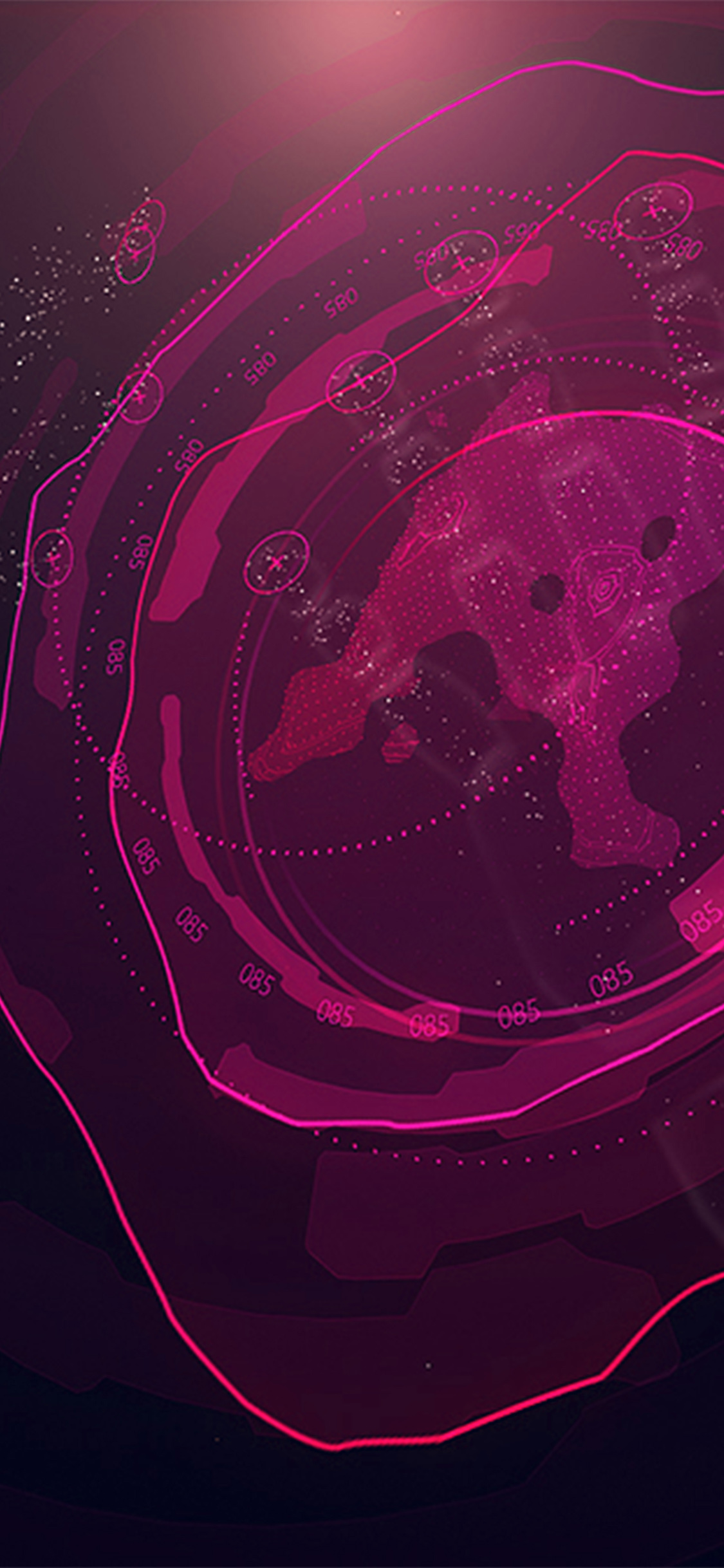 Vx09 Digital Purple Sign Pattern Background Wallpaper