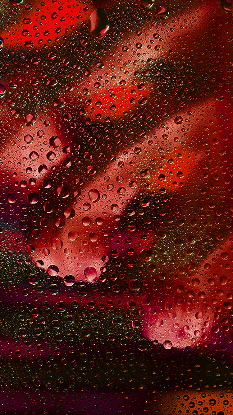 iPhone7papers.com-Apple-iPhone7-iphone7plus-wallpaper-vx12-rainy-bubble-red-dark-window-pattern-background