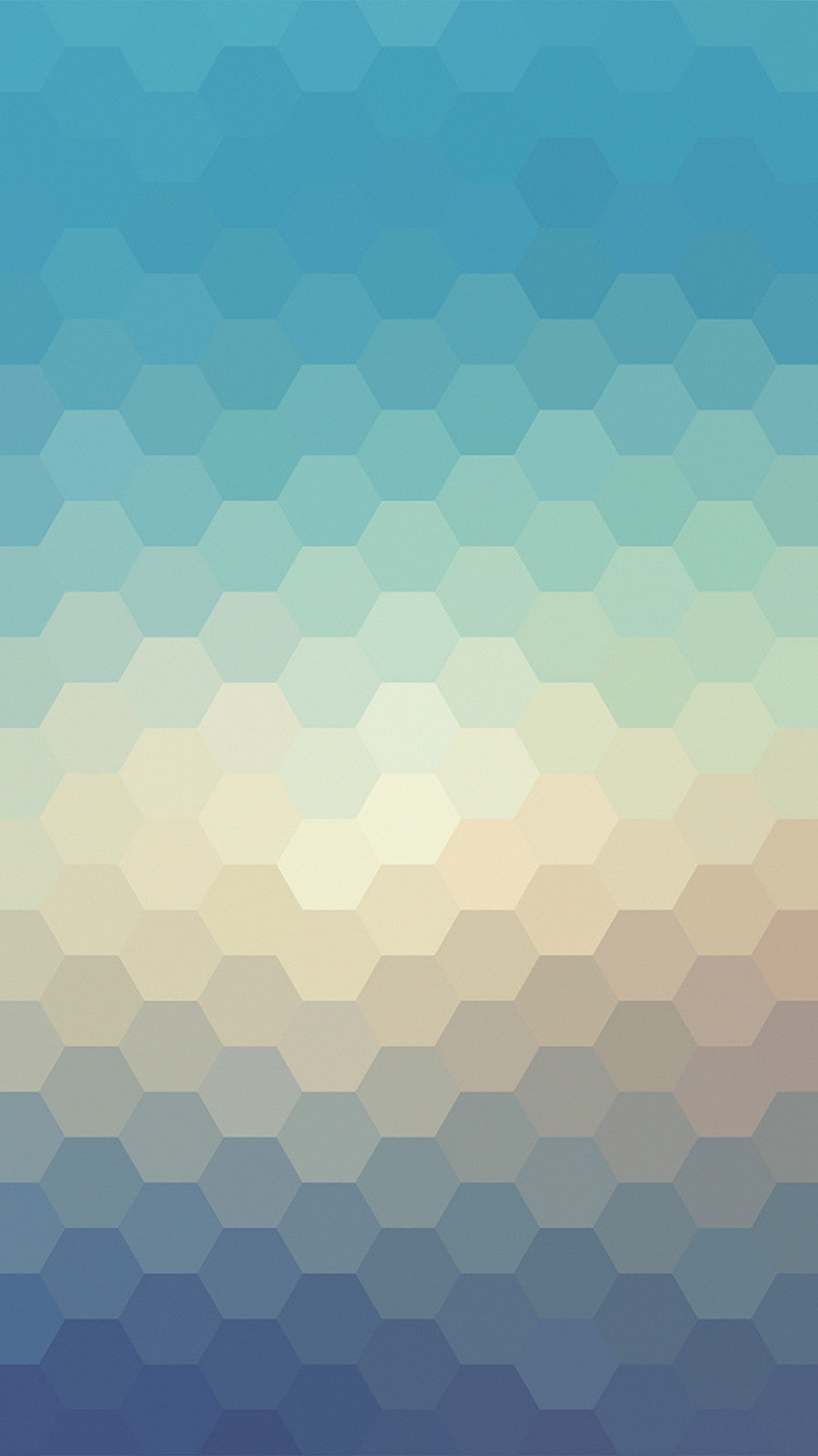 Vx39 Hexagon Blue Yellow Pattern Background Wallpaper