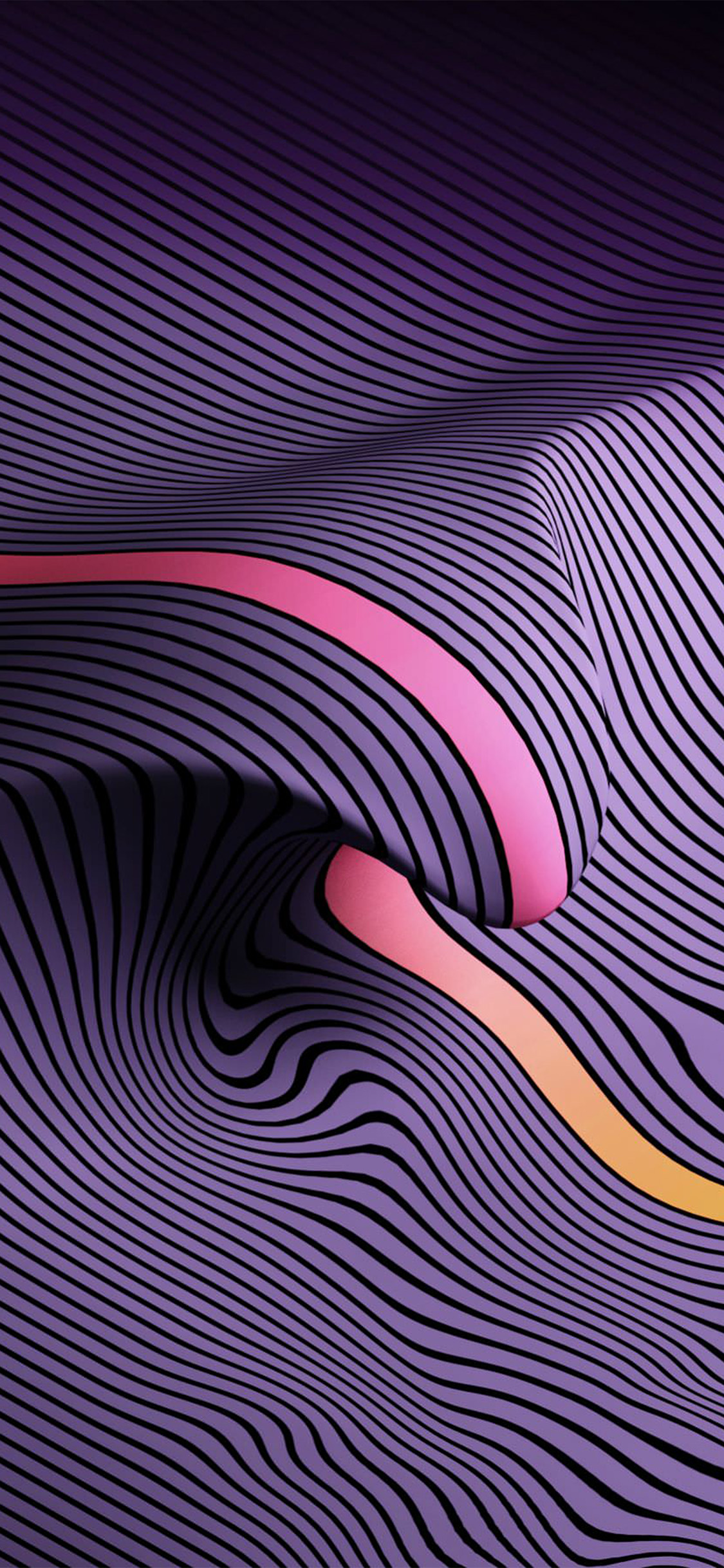 iPhonexpapers.com-Apple-iPhone-wallpaper-vy34-purple-line-digital-abstract-pattern-background