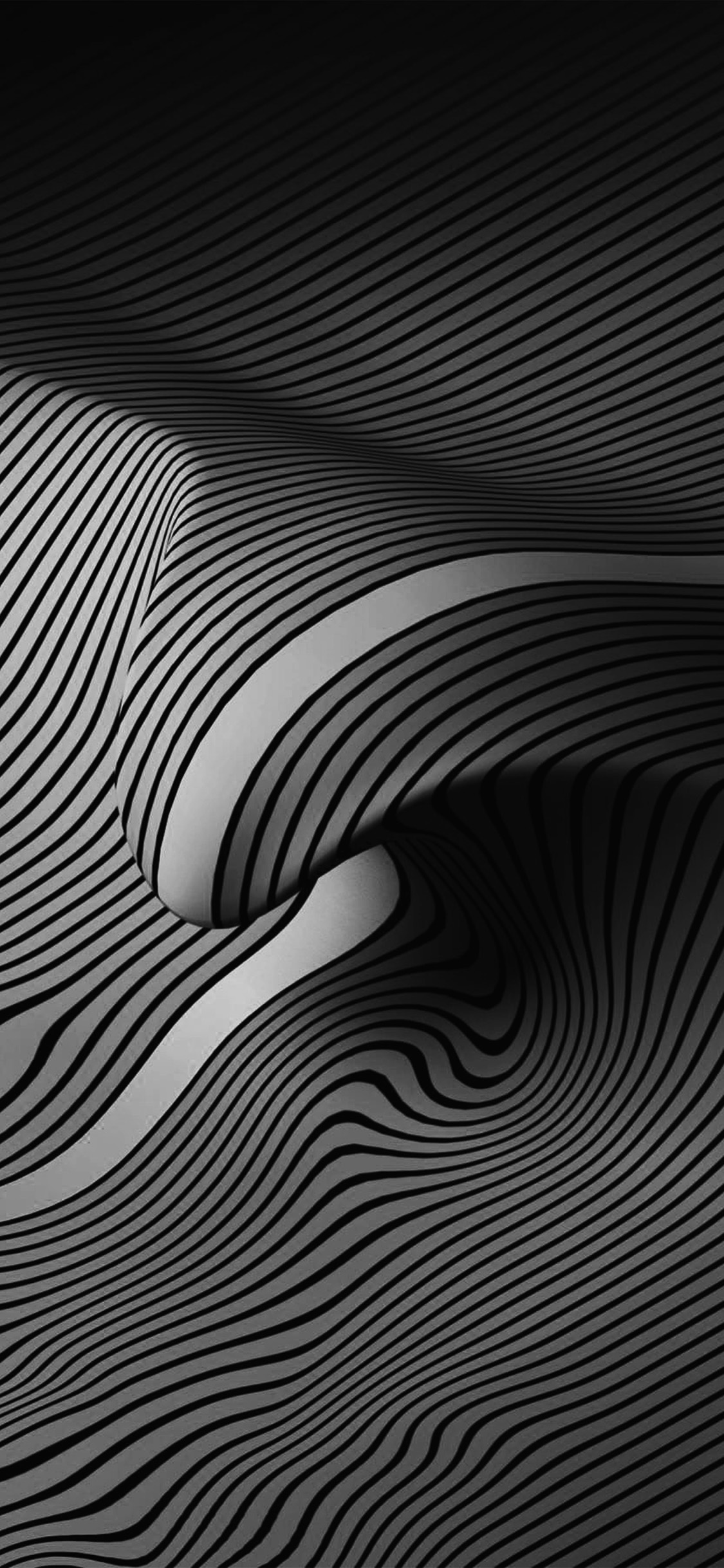 Vy37 Bw Dark Line Digital Abstract Pattern Background Wallpaper