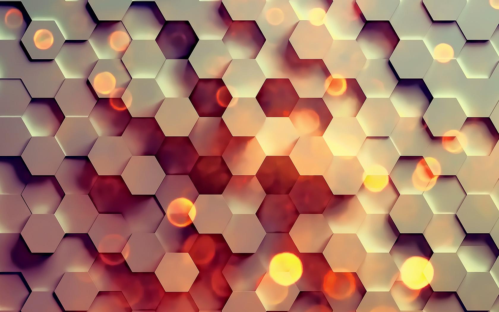 Blue hexagon wallpaper