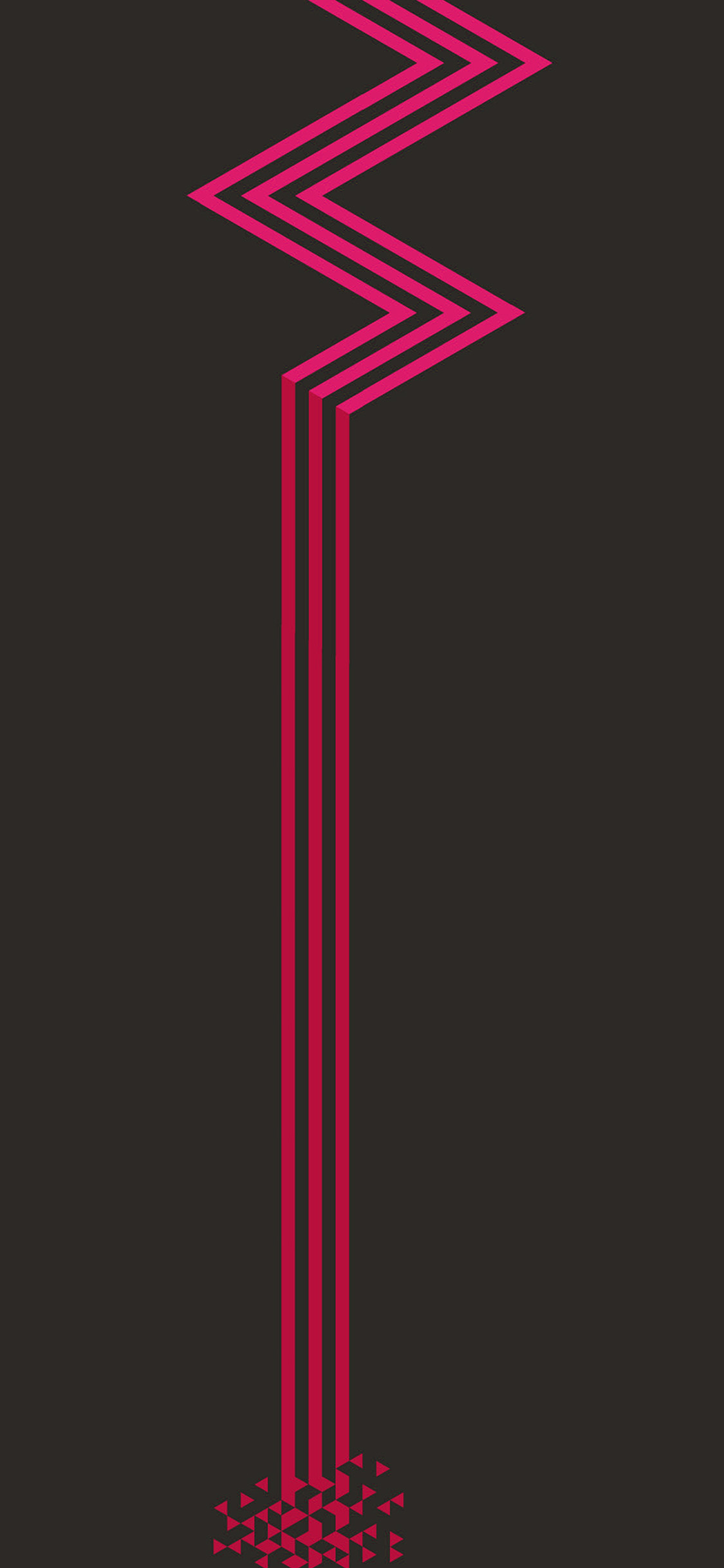 Iphone11papers Com Iphone11 Wallpaper Vz26 Minimal Red Dark Line Abstract Digital Pattern Background