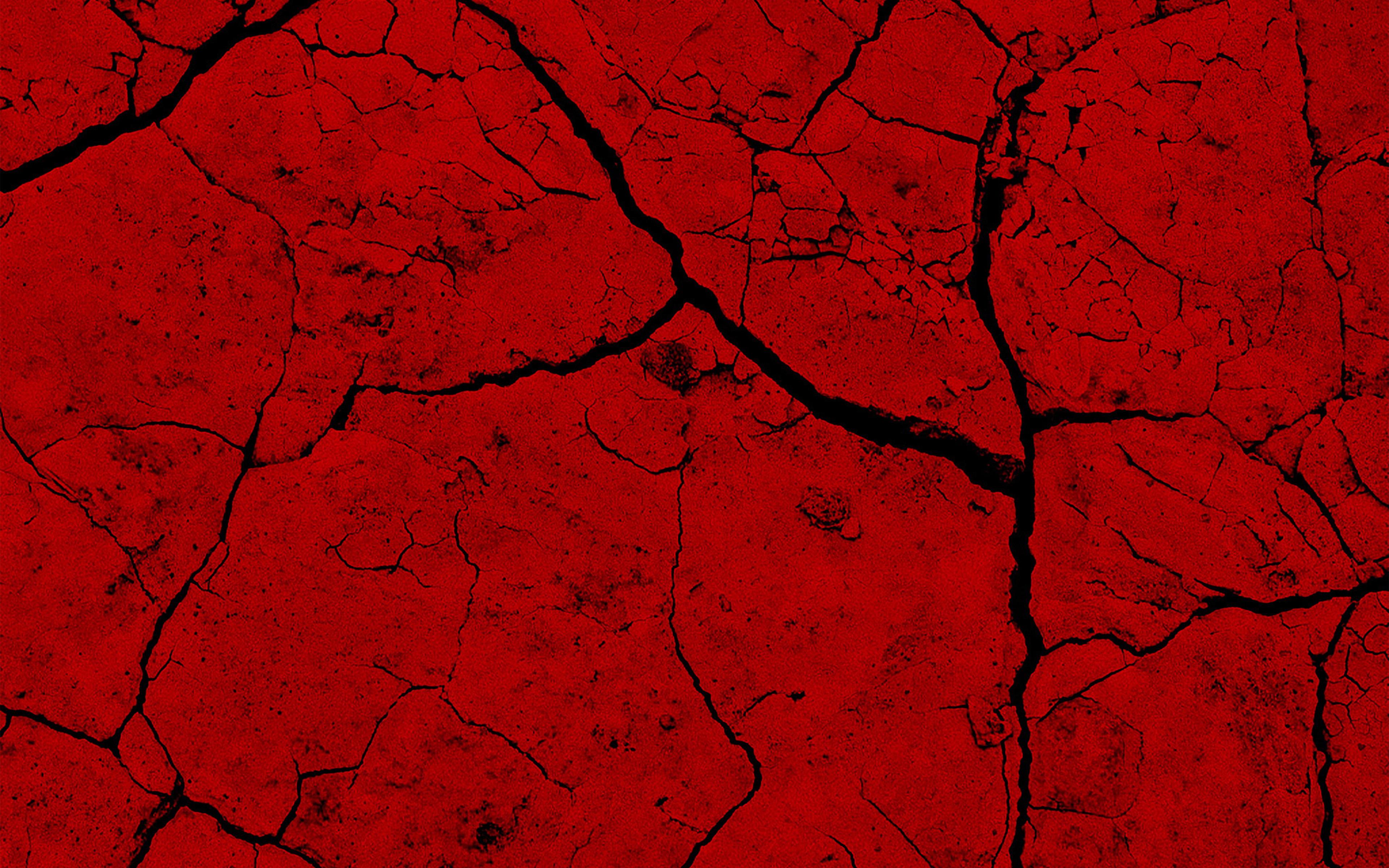 Vz80 Brick Crack Dessert Pattern Background Red Wallpaper
