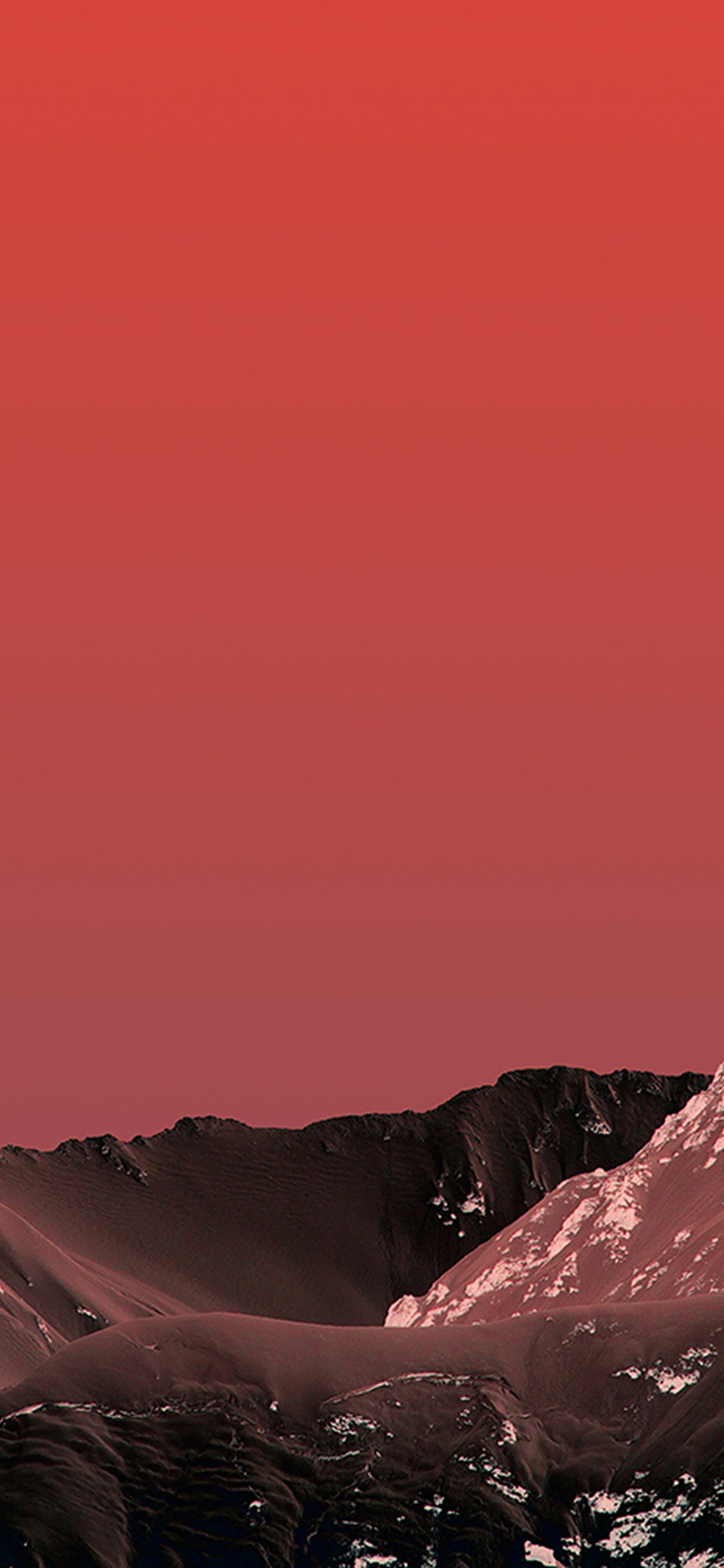 Iphonexpapers Com Iphone X Wallpaper Wb24 Simple Moutain Red