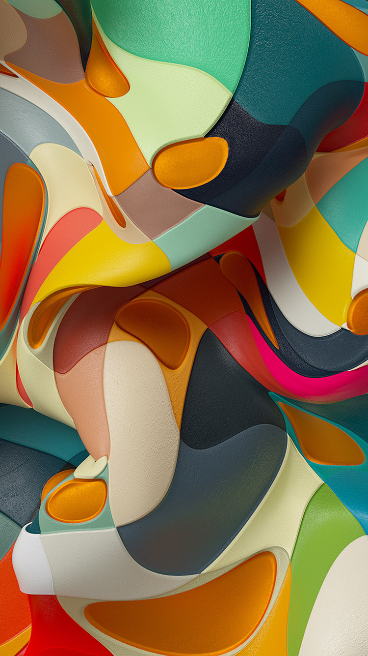 papers.co wc54 3d abstract color dannyivan pattern background 33 iphone6 wallpaper