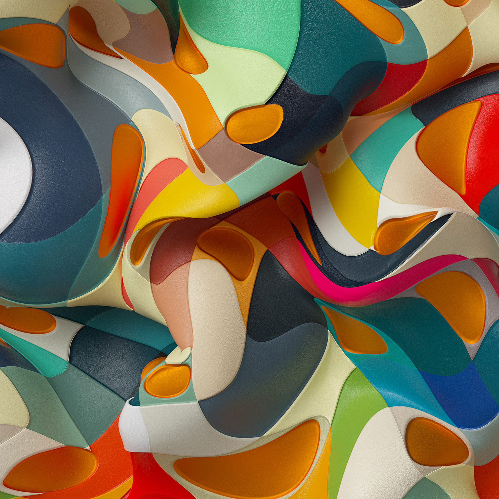 Wc54 3d Abstract Color Dannyivan Pattern Background Wallpaper